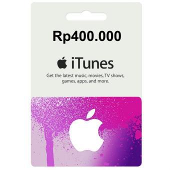 Apple iTunes Gift Card Rp400000 Region Indonesia Digital Code