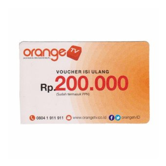 Harga Voucher Orange TV Ku Band dan C Band 200rb