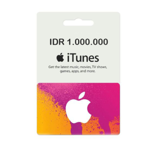 iTunes Gift Card Indonesia - 1.000.000