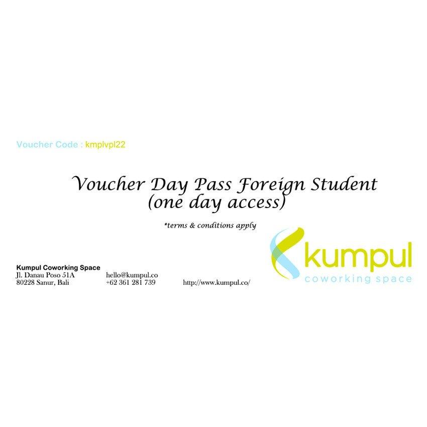 Kumpul Voucher Day Pass Foreign Student – Access 1 Hari – Kumpul Coworking Space - Bali
