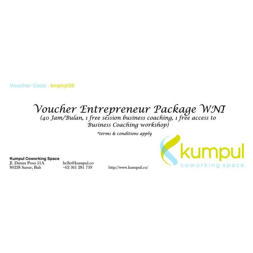Kumpul Voucher Entrepreneur Package WNI - 40 Jam/Bulan