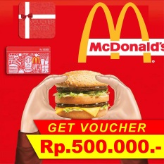 McDonalds Voucher Rp 500.000,-