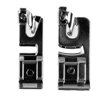 2pcs 3mm + 6mm Narrow Rolled Hem Foot Presser for Domestic Sewing Machine(Silver)