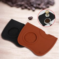 Anti-slip Espresso Coffee Tamper Tamping Holder Silicone Mat Pad (Black) - intl
