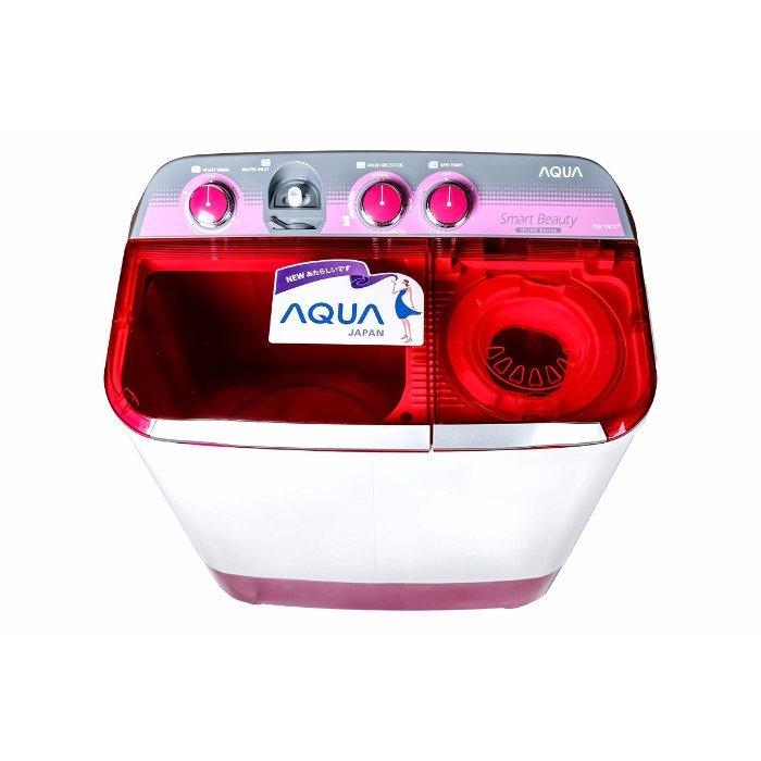 AQUA - Mesin Cuci 2 tabung - QW 880 XT - Putih Merah