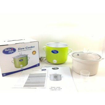 harga Baby Safe Slow Cooker pemasak makanan bayi on-off button - LB008warna Hijau Lazada.co.id