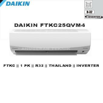 Daikin AC Split 1 PK Smile Curve Thailand R32 Inverter - FTKC25QVM4