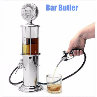 Dispenser Bar Butler Liquor Pump Metal Single Double Ports Wine Liquid Distributor Mini Soda Beverage Beer Pump Wine Gas Station- Single Port - intl