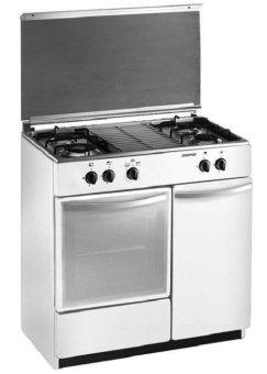 domo kompor oven – freestanding – dg 9405 sw – putih – 4 tungku – pengiriman khusus jadetabek