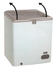 Gea - Freezer GLASS Door - Putih - SD 100F -Khusus JADETABEK