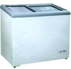 Gea SD-186 Freezer Kaca Datar / Sliding Flat Glass Freezer  - Putih