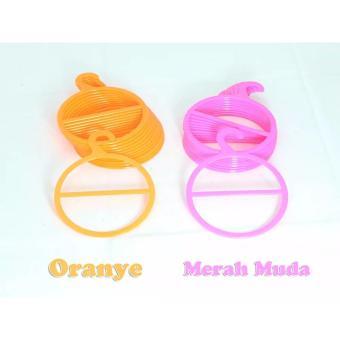 Hanger Jilbab Bulat / Hanger Pashmina / Hanger Hijab MurahMeriah-pink