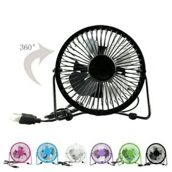 Portable Mini Fan USB / Kipas Angin Kecil Model Besi