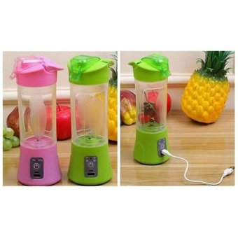 Harga Glow shop Portable Blender Juice Cup Mini Electric 380ML Rechargeable