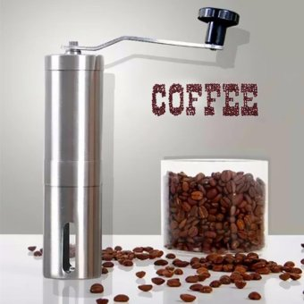 Harga Manual Coffee Grinder Coffee Maker ceramics Core 304 Stainless Steel Hand Burr Mill Grinder Ceramic Corn Coffee Grinding Machine - intl