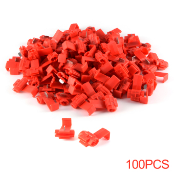 Harga XCSOURCE 100pcs Red Scotch Lock Wire Connectors Quick Splice Terminals Crimp Electrical Cable Connector HS789 - intl