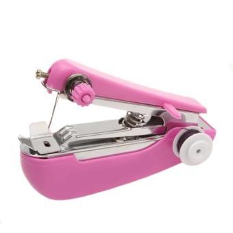 Harga Grosir Station - Mesin Jahit Mini Portable Sewing Machine - Pink