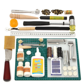Tools Leather Craft Tool Kit Leather Hand Sewing Tool Set Professional - Intl