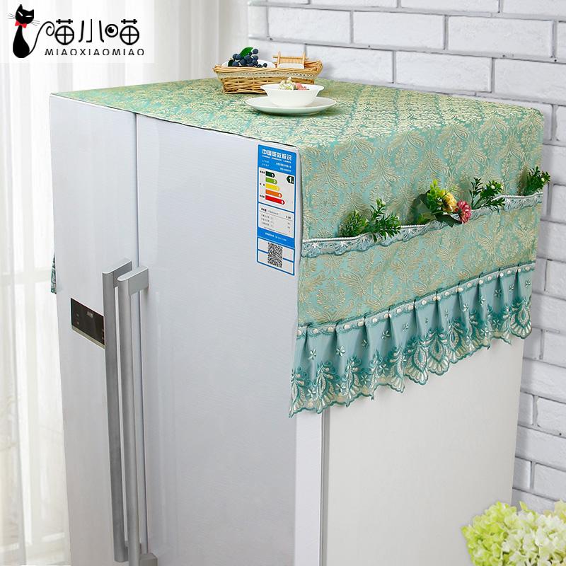 Cheap online Kain pastoral tunggal pintu kulkas penutup debu penutup handuk