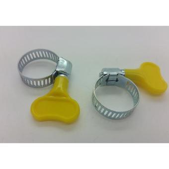 Klem Ring Selang Regulator , Kepala Gas + Kunci 10 pc - Kuning - 3