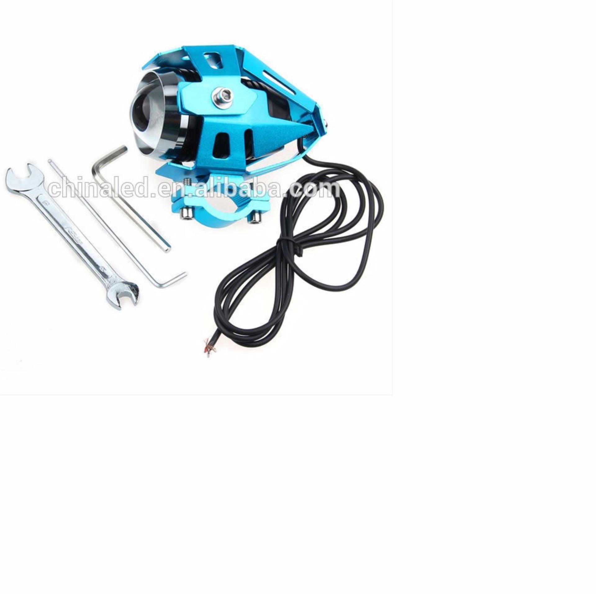 Lampu Sorot Tembak Led Cree U5 Transformer Light Motor- biru