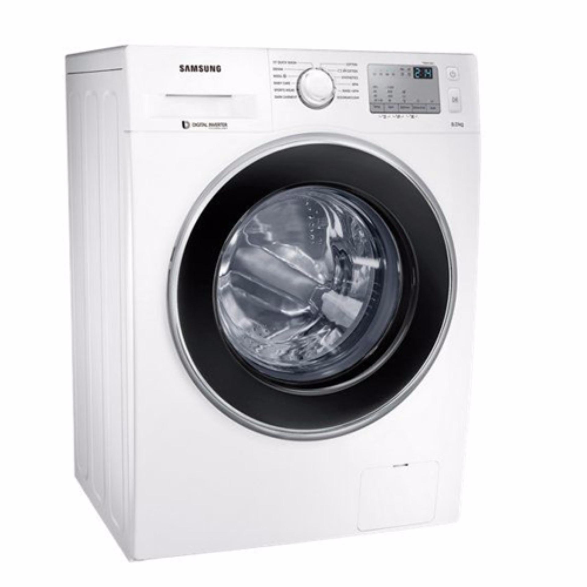 Samsung Mesin Cuci Front Loading 75 Kg Ww75k5210yw White Free Ongkir Washer Ww80j4233gw Se
