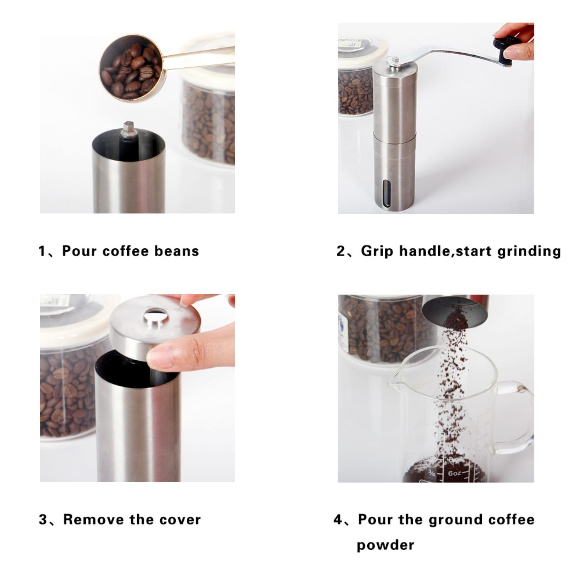 Microrange Hand Coffee Grinder Manual Coffee Mill Great Coffee BeanGrinder with Stainless Steel Design Adjustable Fineness