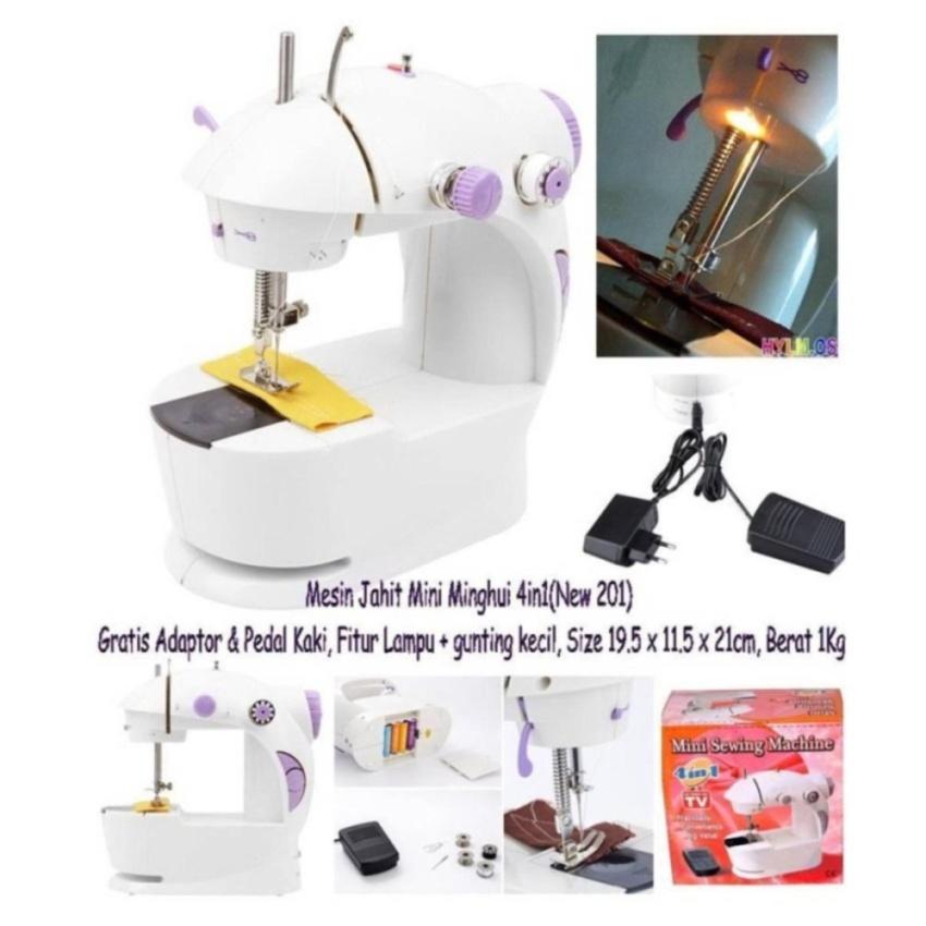 Mini Sewing Machine 4IN1 Portable SM-202A/ Mesin Jahit 4IN1 Mini .