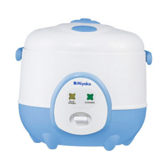 miyako mcm-606a rice cooker – putih biru + penghangat