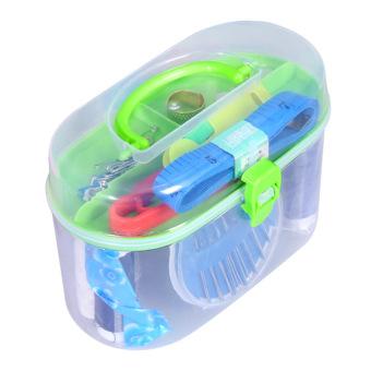 Peralatan Jahit Benang Threader Meteran Gunting Jarum Dan Tudung Tas Kotak