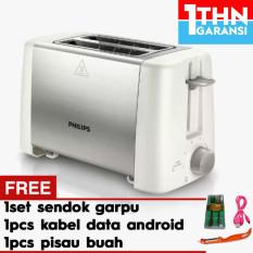 Philips Hd 4825 Toaster + Gratis 1set sendok garpu + 1pc USB Micro Cable + 1pc Pisau Buah