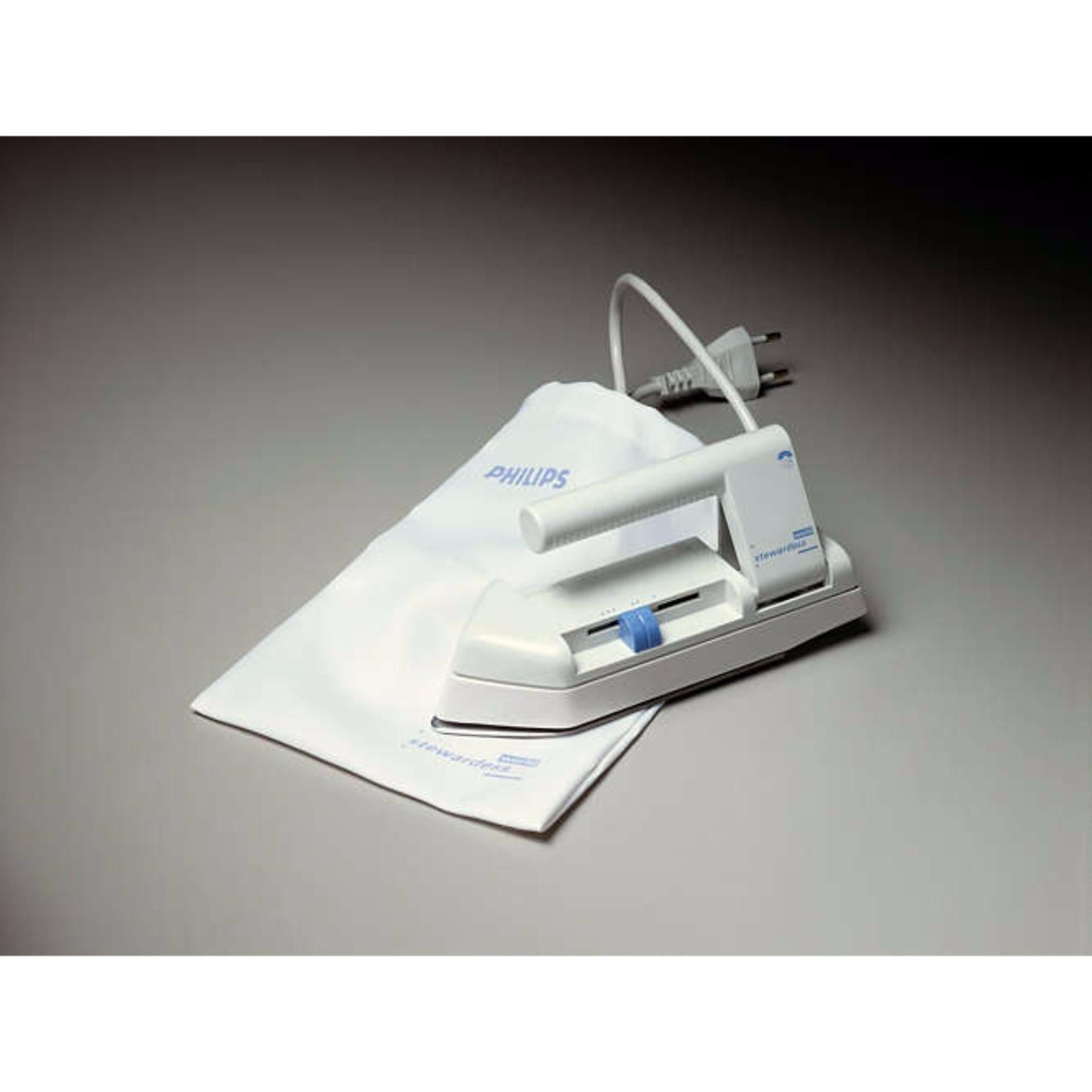 Terbaik Murah Philips Seterika Portable Travel Iron Hd 1301 02 Setrika 1172 Hitam Putih