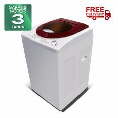 POLYTRON Mesin Cuci 1 Tabung ZEROMATIC MAYA 7,5kg PAW 7511WM - Maroon - Khusus Jabodetabek