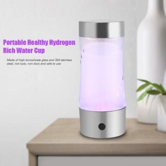Portable USB Water Bottle Healthy Hydrogen Rich Water Maker Bottle Cup Ionizer Filter - intl
