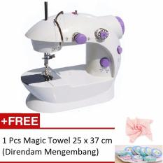 Prime Mesin Jahit Mini Portable Elektrik Generasi 2 GT-202/FHSM-202 A + Gratis Magic Towel 25 x 37cm
