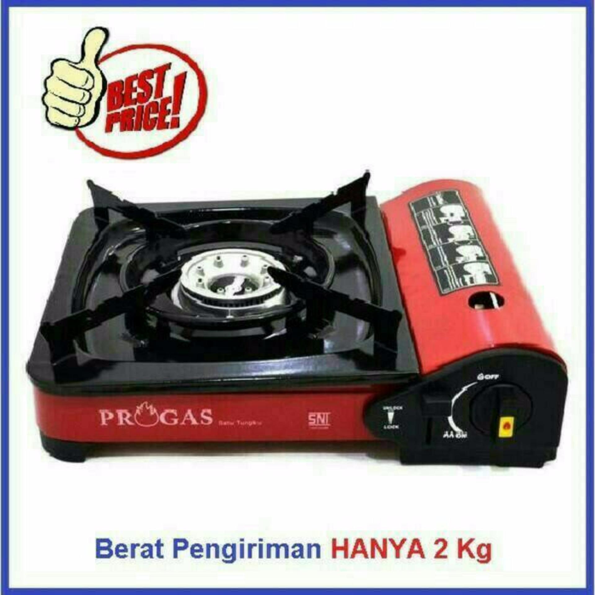 PROGAS kompor gas portable (Gas kaleng & tabung Gas) .