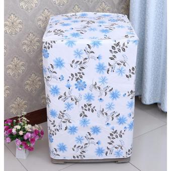 BELI SEKARANG Sarung Mesin Cuci Cover 2 Tabung BUNGA 01 BIRU Buka Atas Anti Air Panas Tipe C Klik di sini !!!