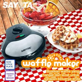 harga Sayota SM 631 Electric Waffle Wafle Maker / Mould / Toaster /Pembuat / Pemanggang / Cetakan Kue Waffel Wafel Bapel ElektrikTeflon Anti Lengket Lazada.co.id