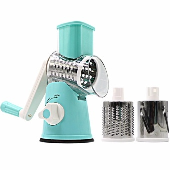 harga Swift Rotary Drum Grater Vegetable Cheese Cutter Slicer ShredderGrinder with 3 Interchanging Ultra Sharp Cylinders Stainless SteelDrums - intl Lazada.co.id