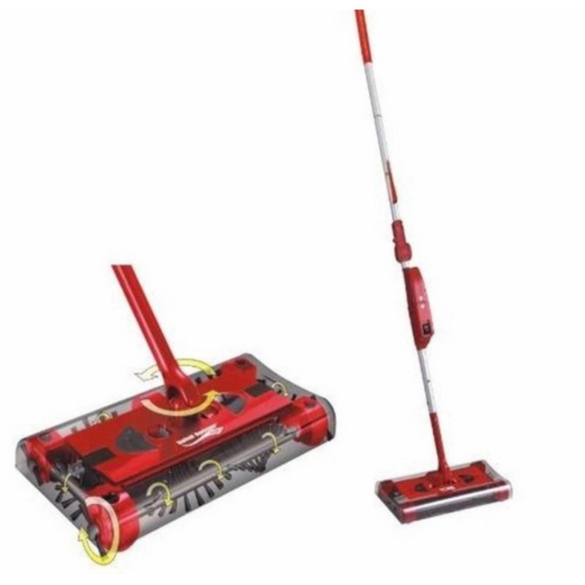 Price comparison Swivel Sweeper Sapu Elektrik RED