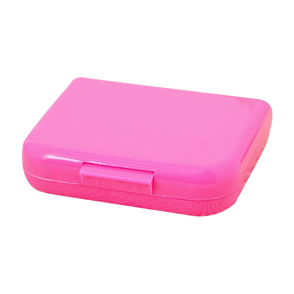 Travel Portabel Peralatan Jahit Jarum Benang Gunting Bidal Rumah Kotak Alat (Berwarna Merah Muda)