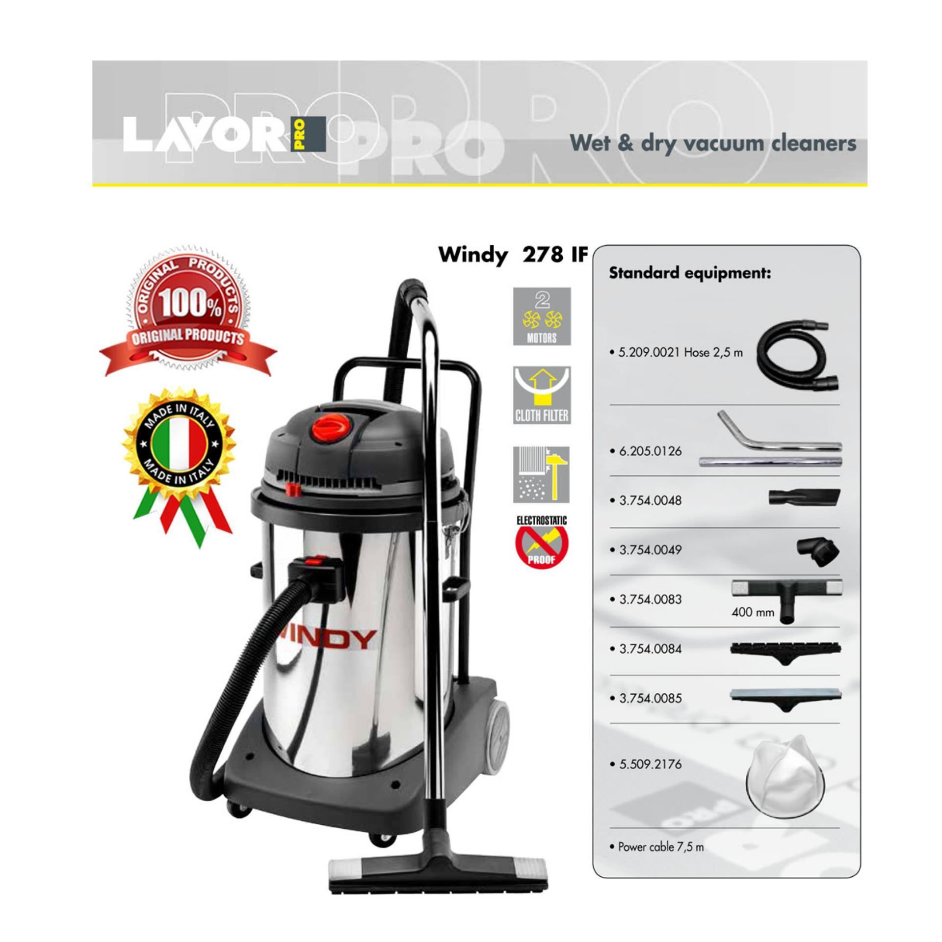 Cheap online VACUUM CLEANER - WET DRY - Windy 278 IF - LAVORPRO - MADE IN ITALY - Vacuum Cleaner -Alat Penyedot Debu - Alat Pembersih