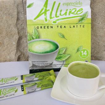 1 pack - Esprecielo Allure - Green Tea Latte - 14 sachets x 24 gram