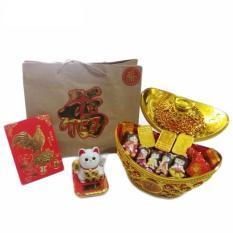 Cokelat Imlek Paket Xinjia Ornament Gold Berat 1/ 2 Kg + Paperbag Special Imlek & Angpao Gold