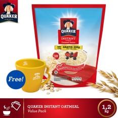 [Free Mug] Quaker Instant Oatmeal 1.2 Kg
