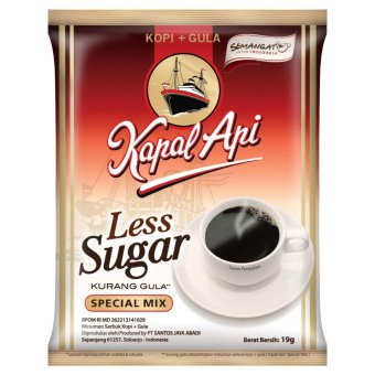 Kapal Api Special Mix Kopi Less Sugar Bag (20 Sachet @19 Gram)