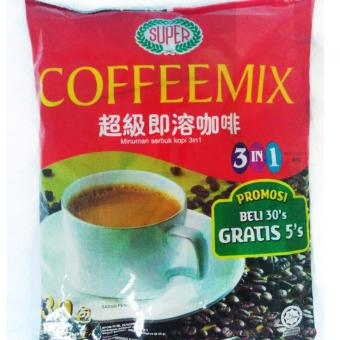 Harga Super Coffeemix 3in1 600G 30'S free 5's