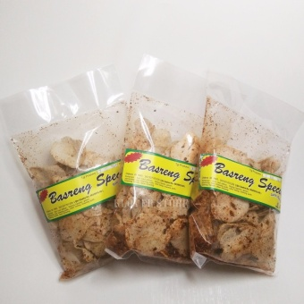 Keripik Bakso Goreng / Basreng Spesial Bandung Rasa Ayam BawangPedas 100% Halal