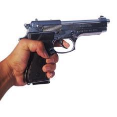 Korek Api Pistol  Barreta - Silver