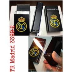 Kotak Tempat Rokok Plus Korek Api Motif Club Bola Madrid